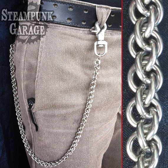 12 Gauge Jpl Twist Heavy Duty Stainless Steel Etsy Wallet Chain Chain Wallet Chains