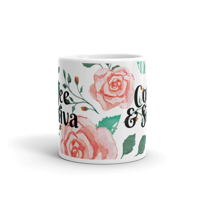 Coffee And Sativa Floral Coffee Mug Pothead Mom Club Mugs Coffee Mugs Coffee