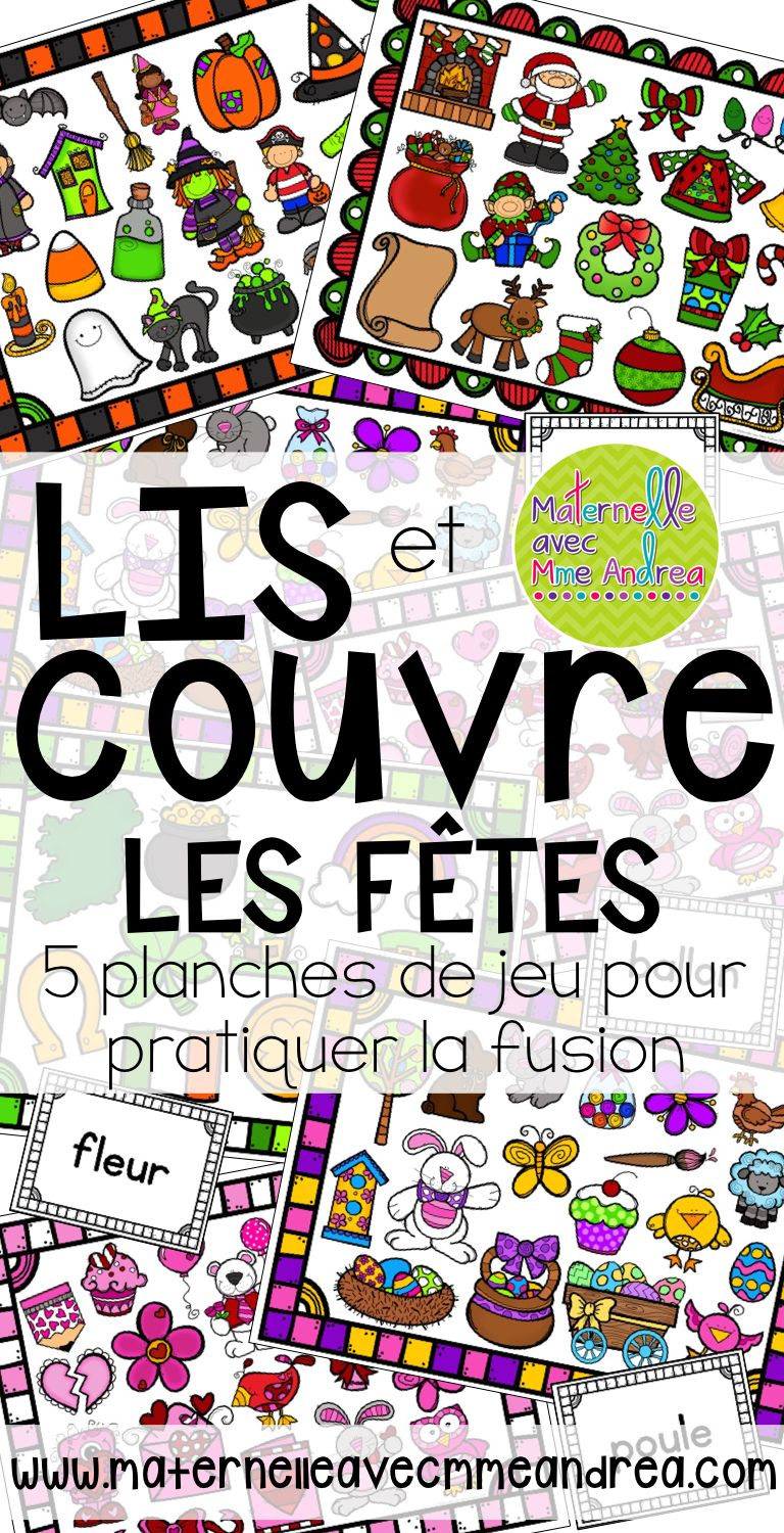 FRENCH Blending Practice / Guided Reading Game les fêtes
