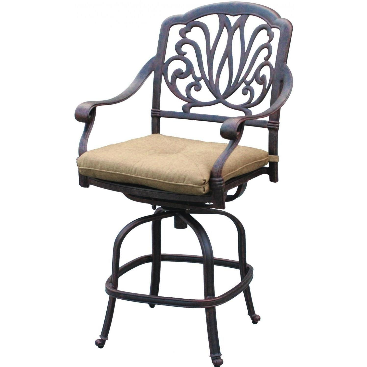 Swell Darlee Elisabeth Cast Aluminum Patio Counter Height Swivel Machost Co Dining Chair Design Ideas Machostcouk