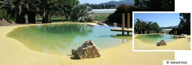 Tel un lac dans le d sert piscine avec plage imitation - Camping a mimizan plage avec piscine ...