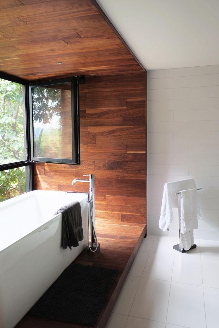 Modèles Inspirants Dune Salle De Bain Avec Parquet - Plancher flottant salle de bain