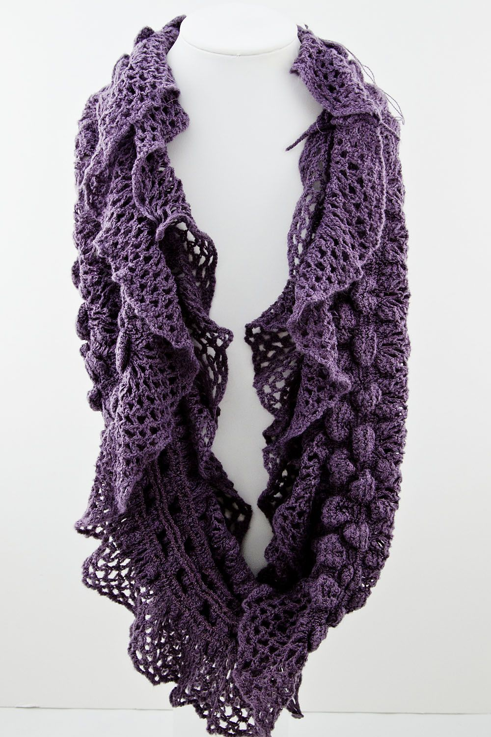 Knit Infinity Scarf | gemstone metal pearl stretch home scarves ruffle infinity knit scarf