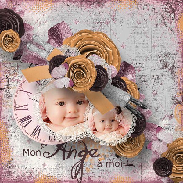 """Page réalisée avec le nouveau kit d'Aurélie """"Lady Romantic"""" : http://www.myscrapartdigital.com/shop/index.php?main_page=index&cPath=24_66"""