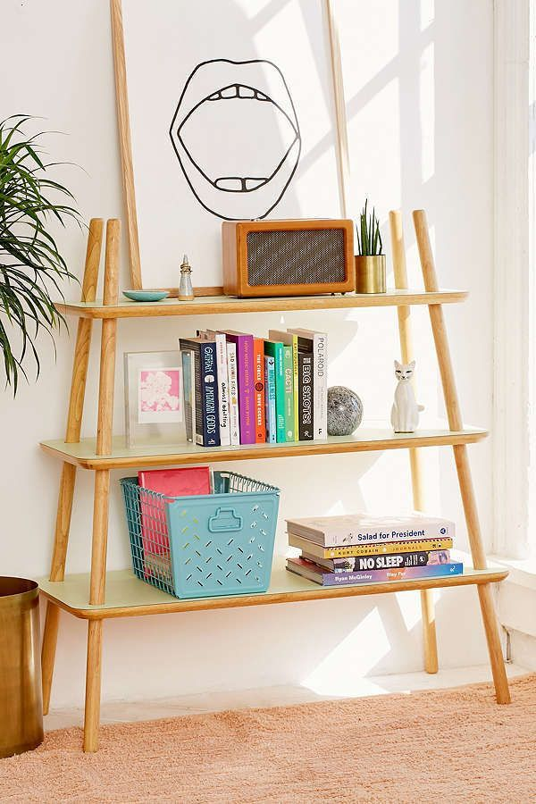 Simple Wooden Bookshelf Craft Organization Pinterest