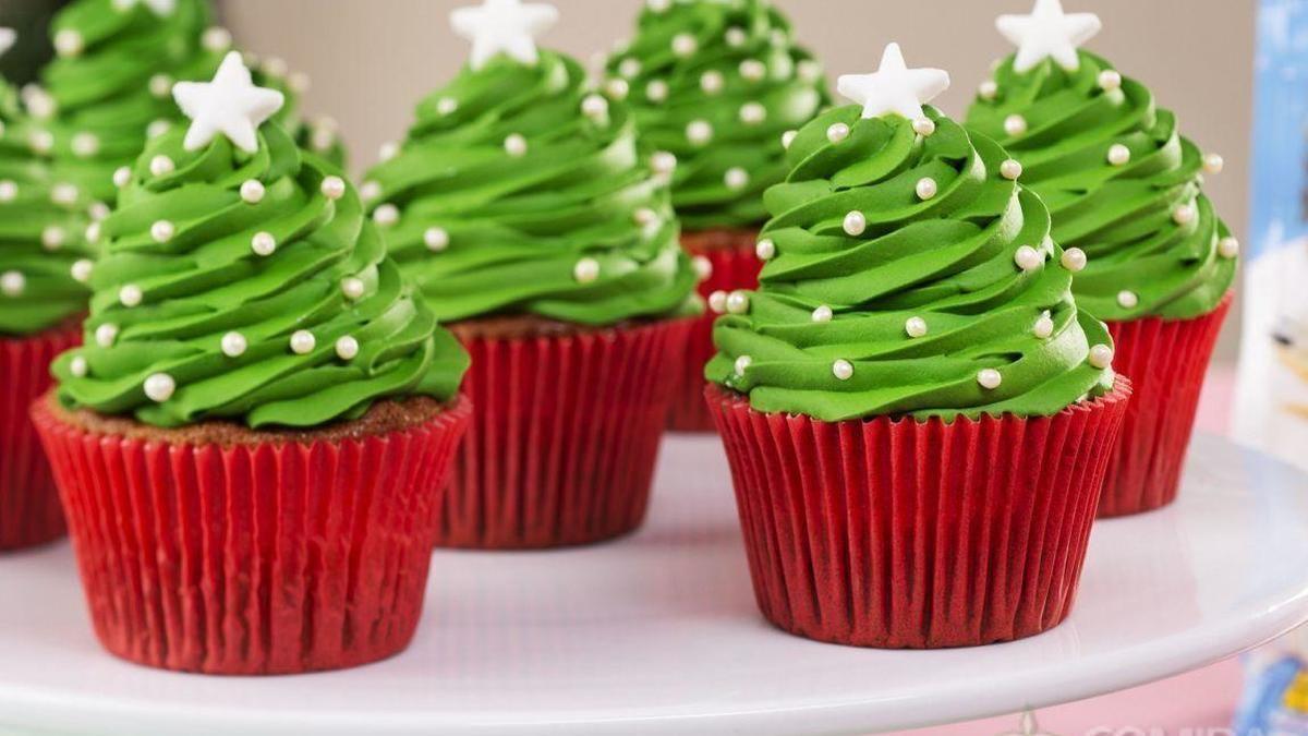 Receita De Cupcake De Arvore De Natal Receita Receita De