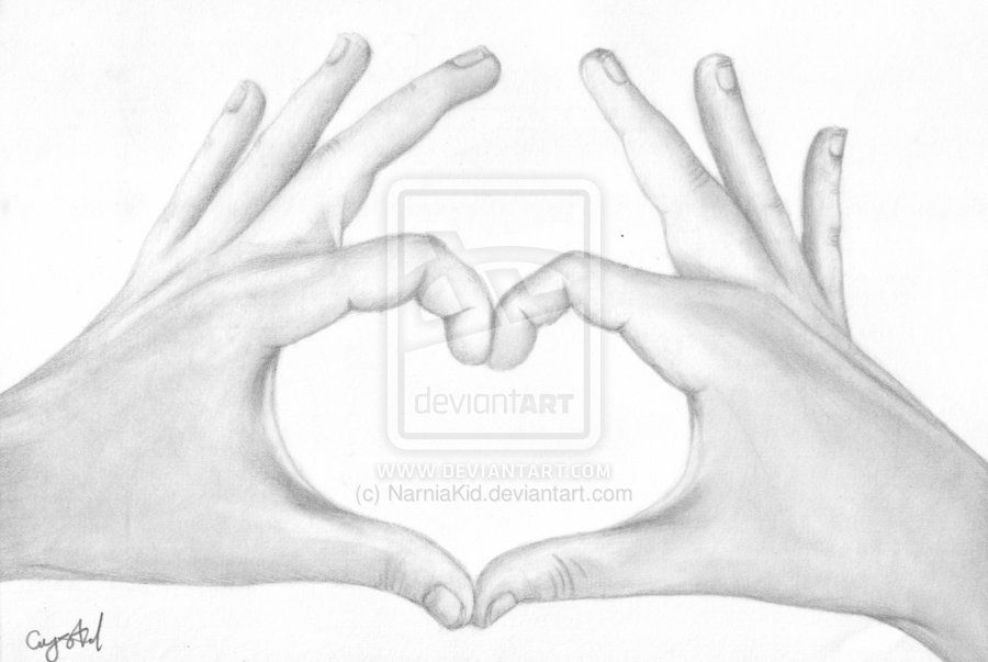 Heart Shaped Hands Drawing By Narniakid Heart Shaped Hands How