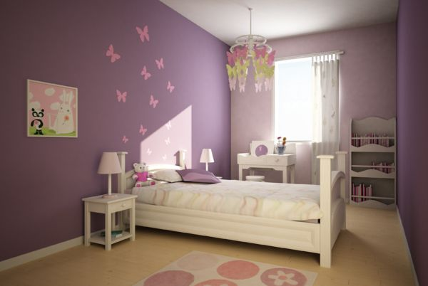 déco chambre fillette rose et mauve décoration chambre fille