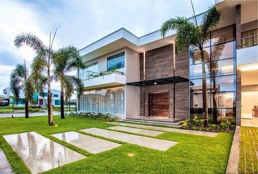 30 fachadas de casas modernas dos sonhos fachadas de for Ver fotos de interiores de casas modernas