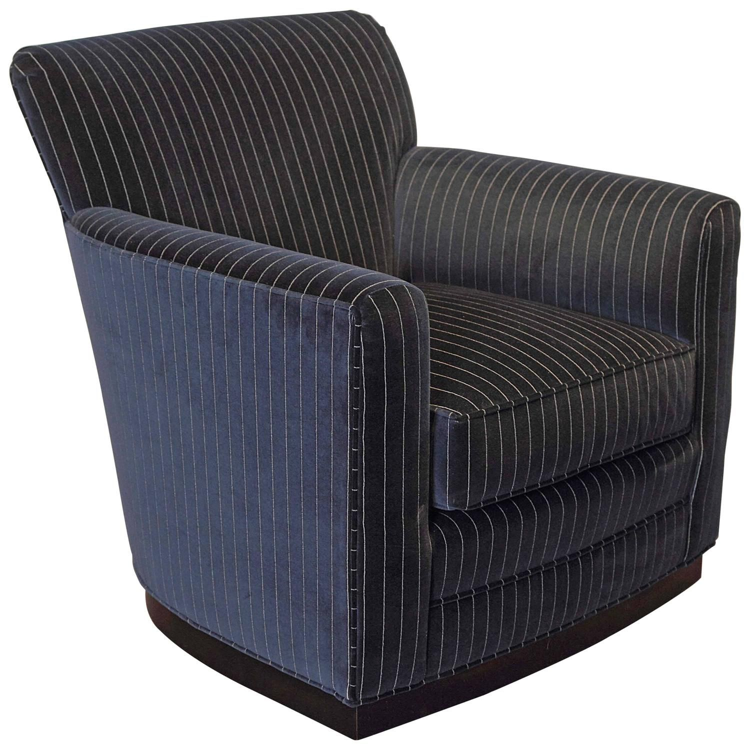 Navy Stripe Swivel Chair Swivel chair, Chair, Chairs for