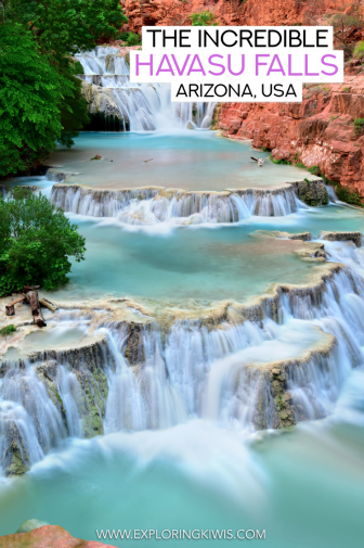 The Havasu Falls (also known as the Havasupai Falls) is an incredible place to hike, swim and camp in Arizona, USA. With incredible water and towering canyons, this is a must-see whilst you're visiting the USA.