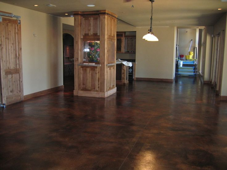 Dark stain concrete floor colors google search sports for Black stains on concrete