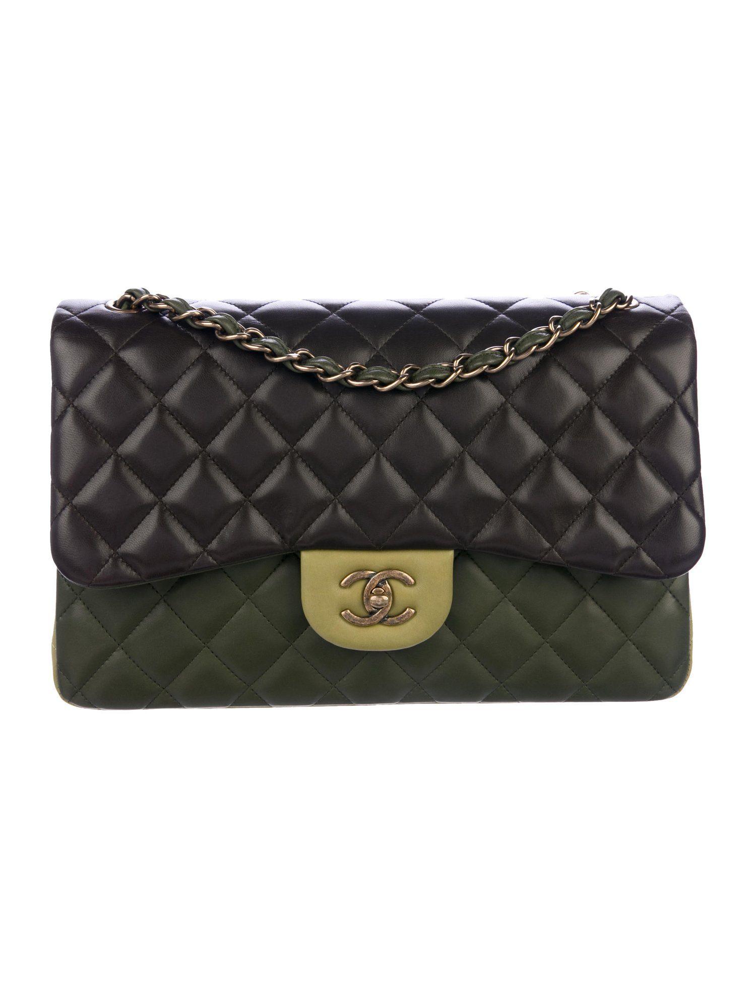 fcaf2b7216c1 Chanel Paris Edinburgh Tricolor Jumbo Double Flap Bag - Handbags -  CHA335471 | The RealReal