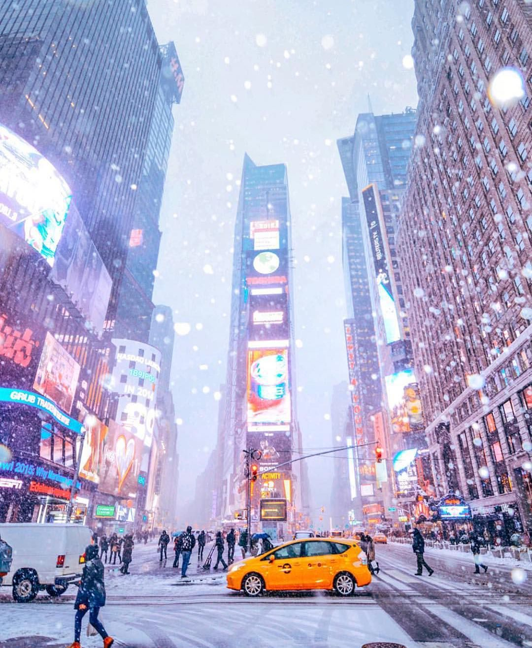 winter in times square nyc picture by. Black Bedroom Furniture Sets. Home Design Ideas