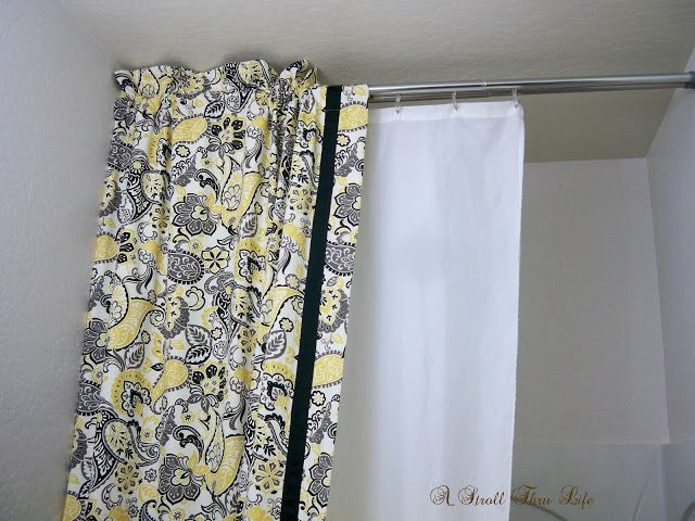 Diy Double Shower Curtain Liner Tutorial Double Shower Curtain