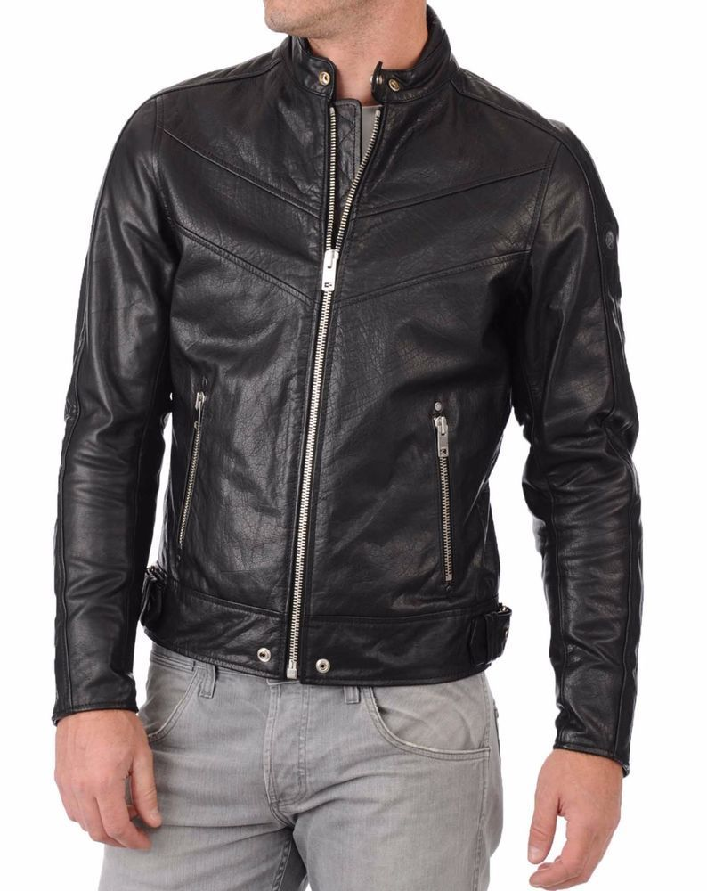 New Arrival Men Real Lambskin Motorcycle Premium Quality Leather Biker Jacket 13 Ariesleathers Motorcyc Leather Jacket Men Leather Jacket Jackets Men Fashion [ 1000 x 794 Pixel ]
