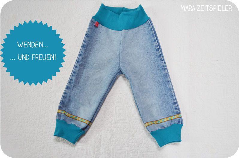 upcycling tutorial babyhosen aus alten jeans n hen mara zeitspieler babys und kinder. Black Bedroom Furniture Sets. Home Design Ideas