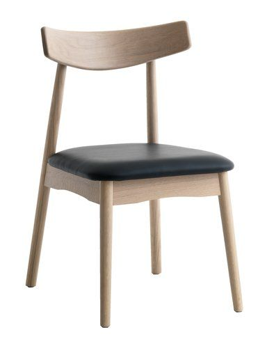 Ruokapöydän tuoli JUNGHOLM tammi/musta   JYSK