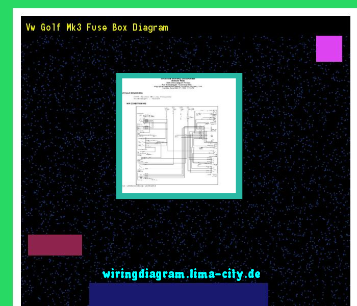 Vw Golf Mk3 Fuse Box Diagram  Wiring Diagram 175926