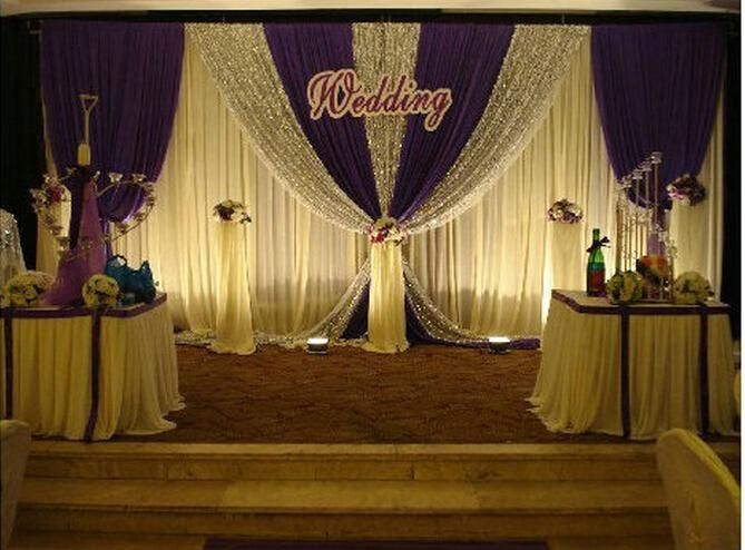 Wedding Supplies Backdrops Curtain New Design Sequins Cheap