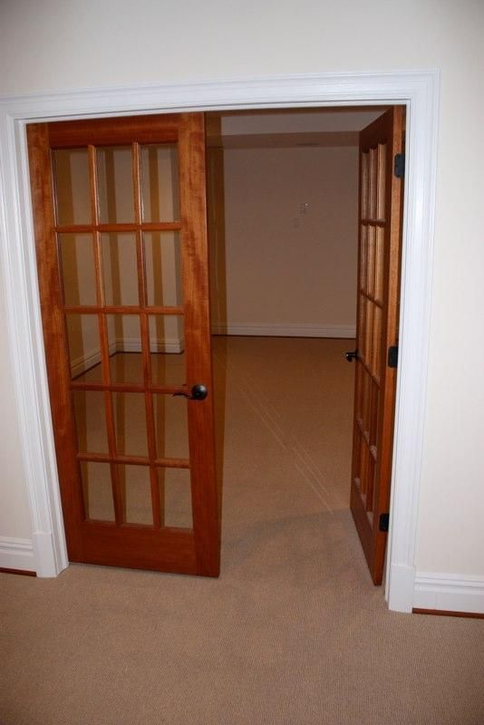 Pre Hung Double Mahogany French Doors For 598 Project Basement