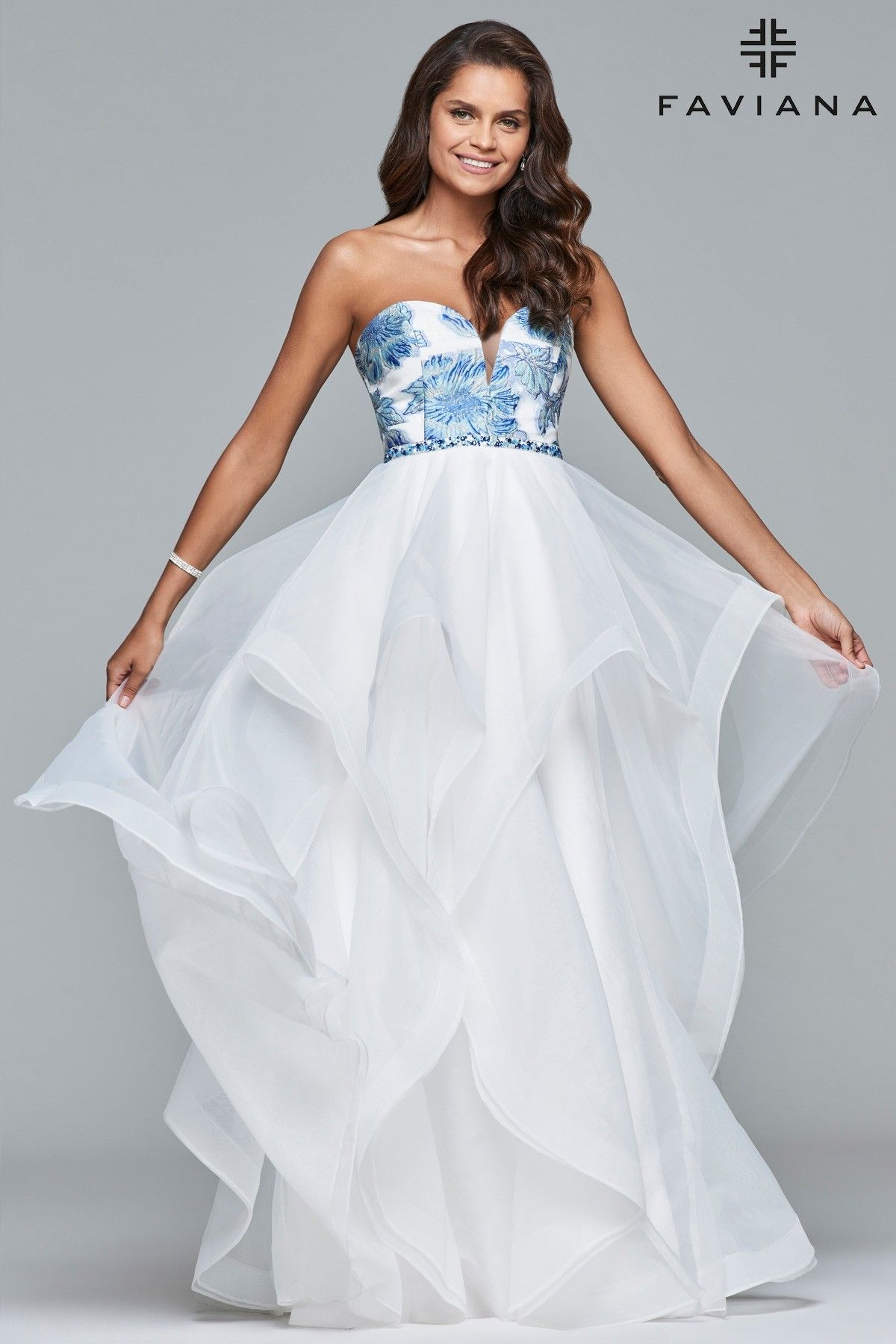 1211196308d Bring your own unique flavor to Faviana 10034! This gown features a small  top