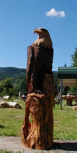 Holzeule holz eule eulenbank owlbench kettensäge wood