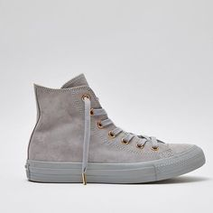 Grey Suede @Converse with rose gold