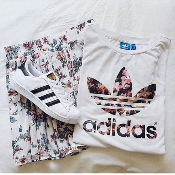 Image result for adidas originals floral t-shirts mens