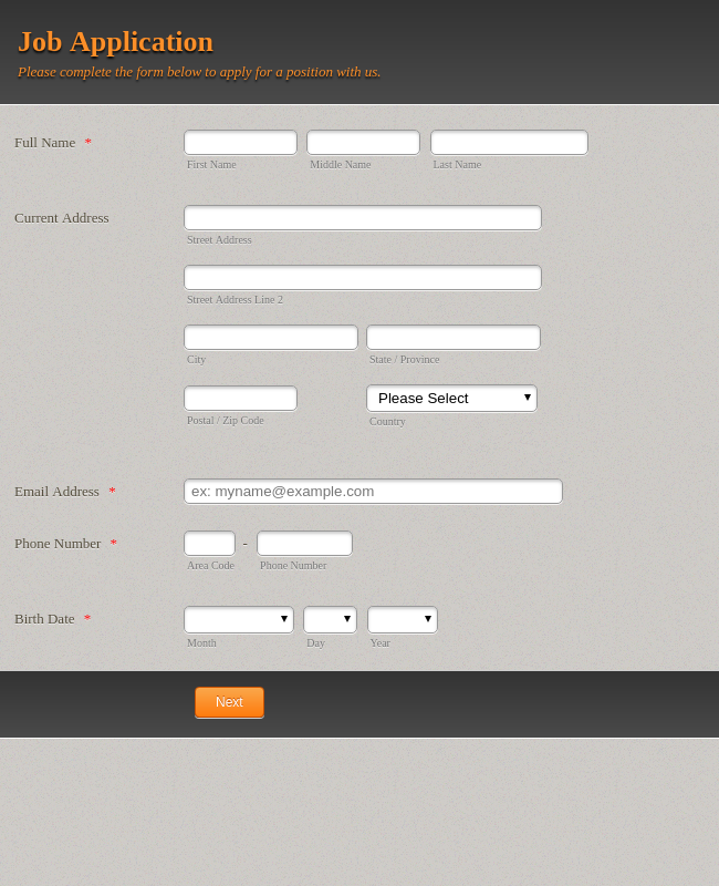 10 000 Free Online Form Templates Form Examples Jotform Form Example Online Form Templates