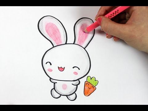 How to draw a cute bunny cute happyeaster youtube