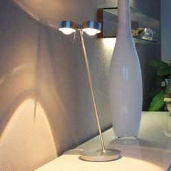 Photo of Top Light Puk Table Twin table lamp chrome matt 2x lens matt / 2x glass matt 60cm standard socket T