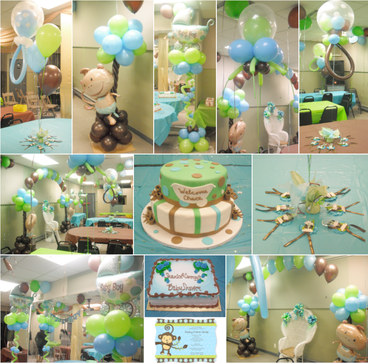 real parties monkey boy baby shower theme http www