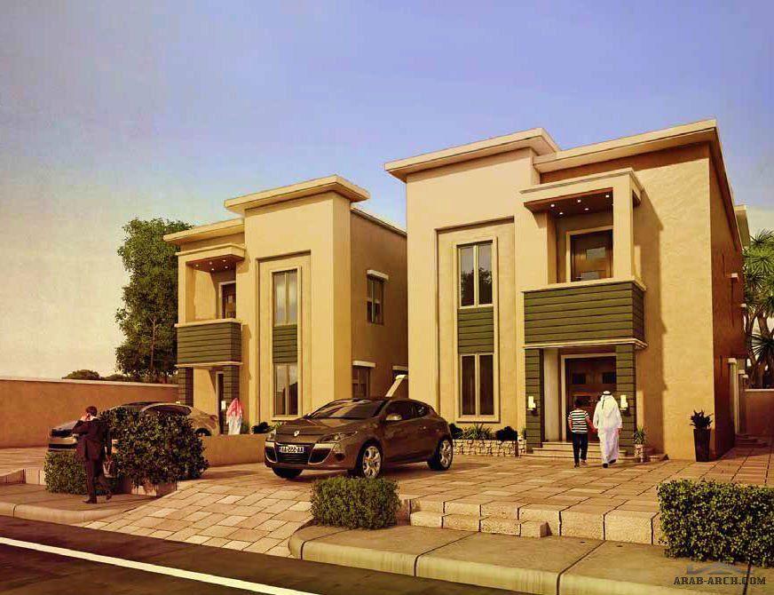 مخطط فيلا لينا مساحه الارض 406 متر مربع مسطح البناء 415 متر مربع House Elevation House Styles Modern House