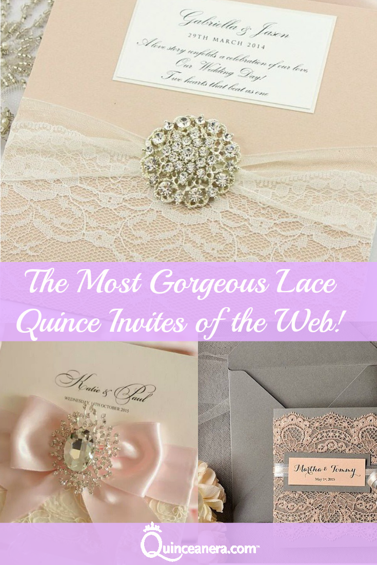 the most gorgeous lace quince invites of the web quinceañera