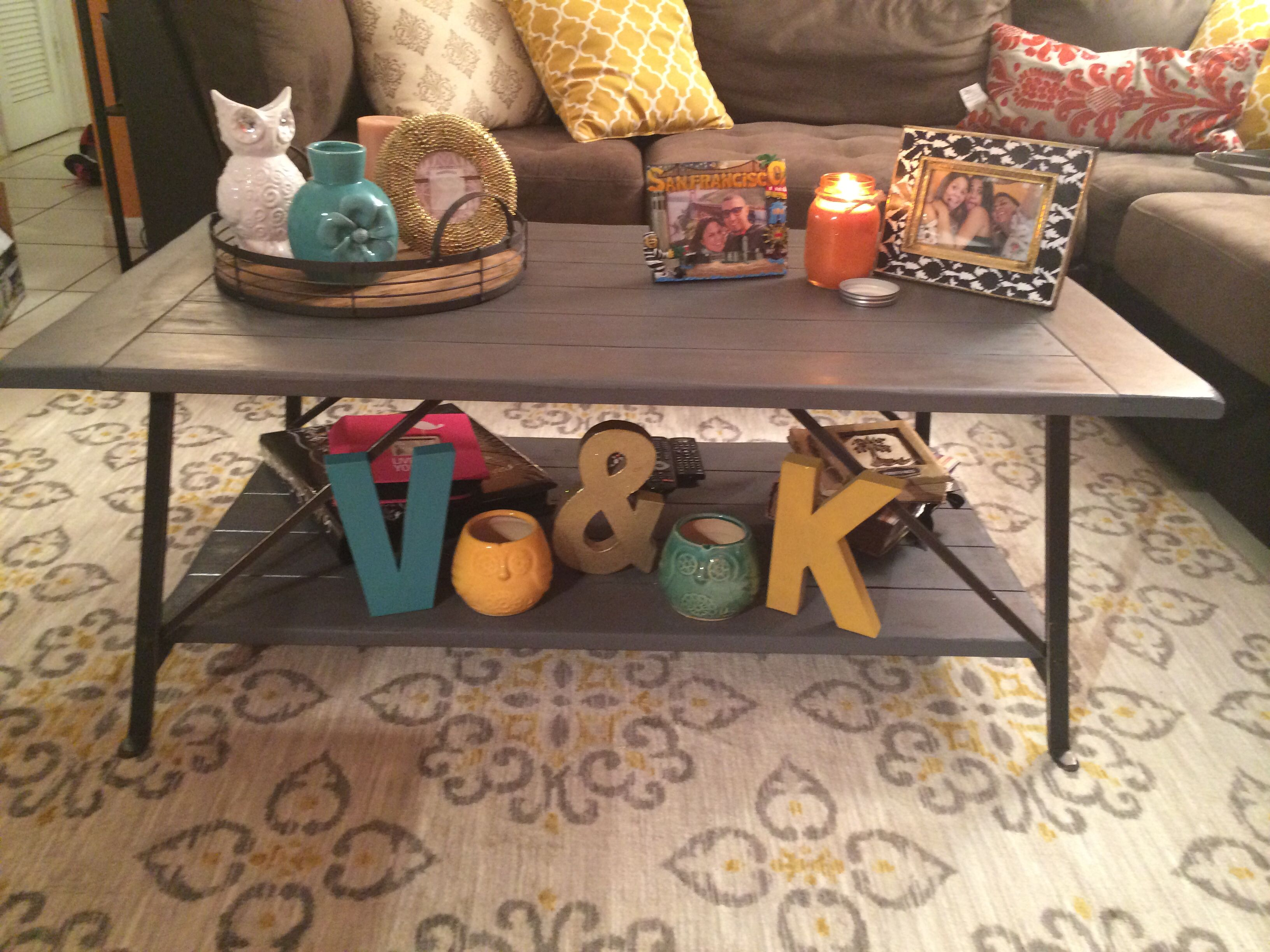 Swap shop old coffee table turned into this beautiful modern