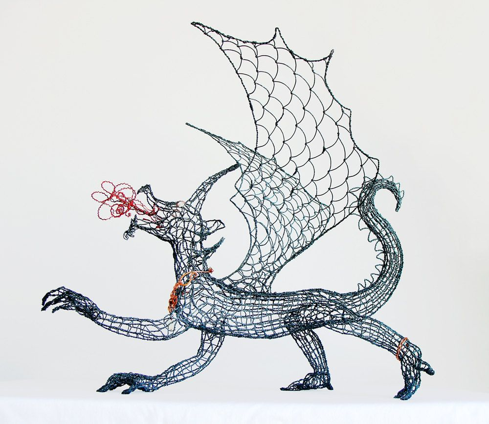 Dragon Queen Wire Sculpture and Necklace, via Etsy. | For School ...