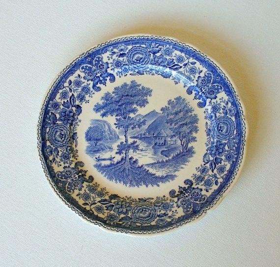 cij sale antique villeroy boch burgenland blue salad. Black Bedroom Furniture Sets. Home Design Ideas