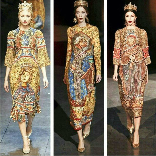 Dolce e Gabbana ~ I think the Byzantine mosaic collection was the best ever.