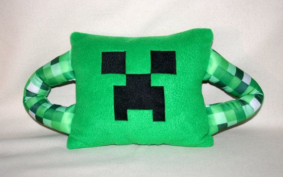 This Minecraft Creeper Inspired Pillow is perfect for birthday parties! $22