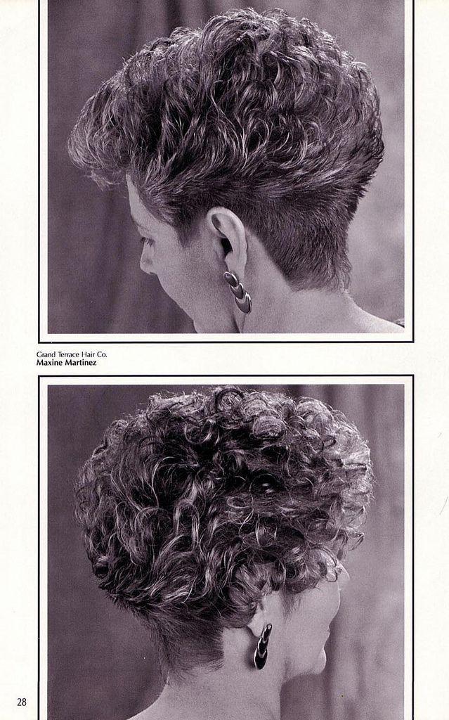Vintage pic, perm   Bedroom   Short permed hair, Short ...