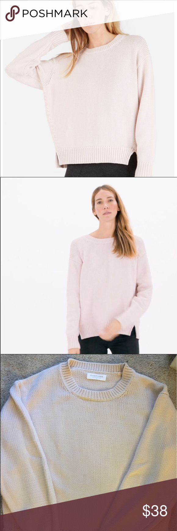 Everlane Pink Cotton Sweater Cotton Sweater Sweaters Pink Cotton
