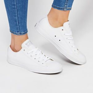 0e0f5048b0ad Converse Chuck Taylor All Star Leather Ox Shoes - White