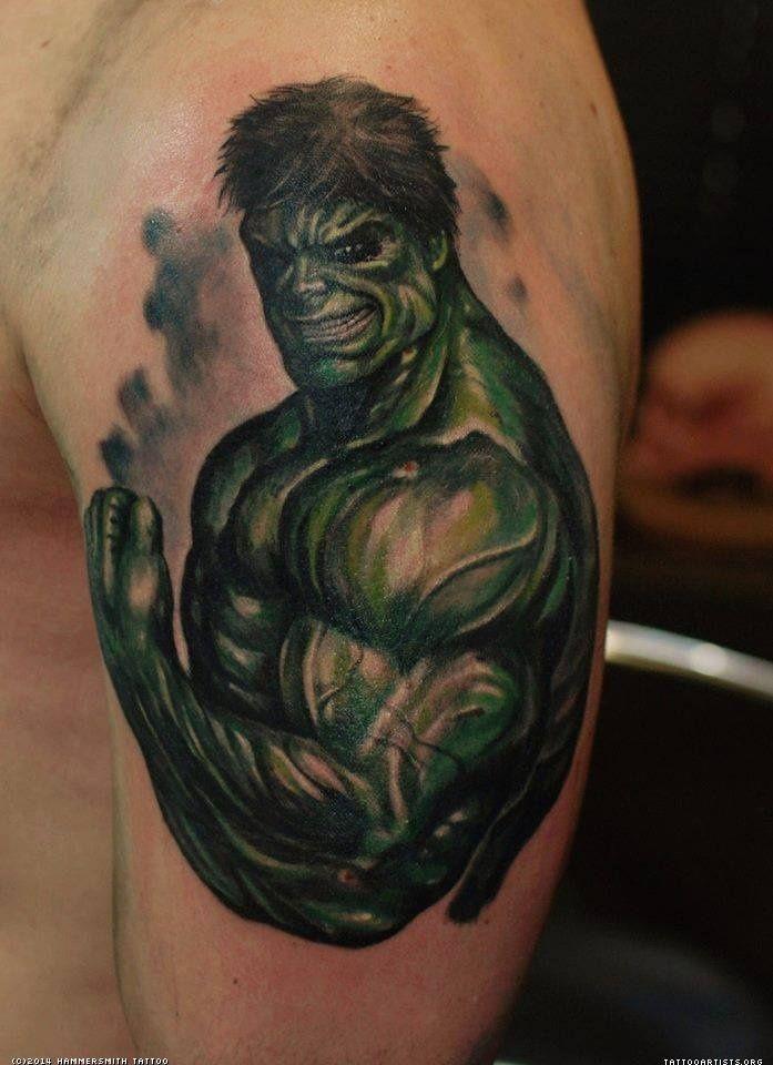 Pics Photos   Incredible Hulk Color Tattoo