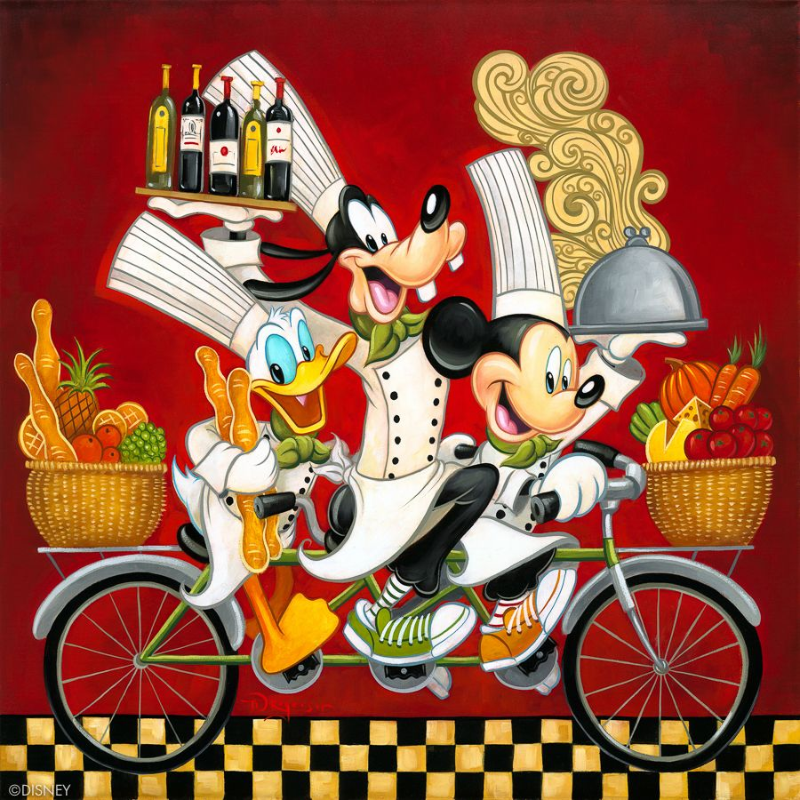 Pin By Vicki Brown On Fine Art Disney Style Disney Fine Art Disney Art Mickey Mouse And Friends