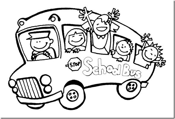 Kindergarten Kids Going To The Bus Kindergarten Coloring Pages
