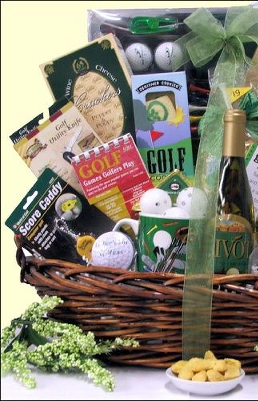 Fall festival themed auction basket ideas golf gift