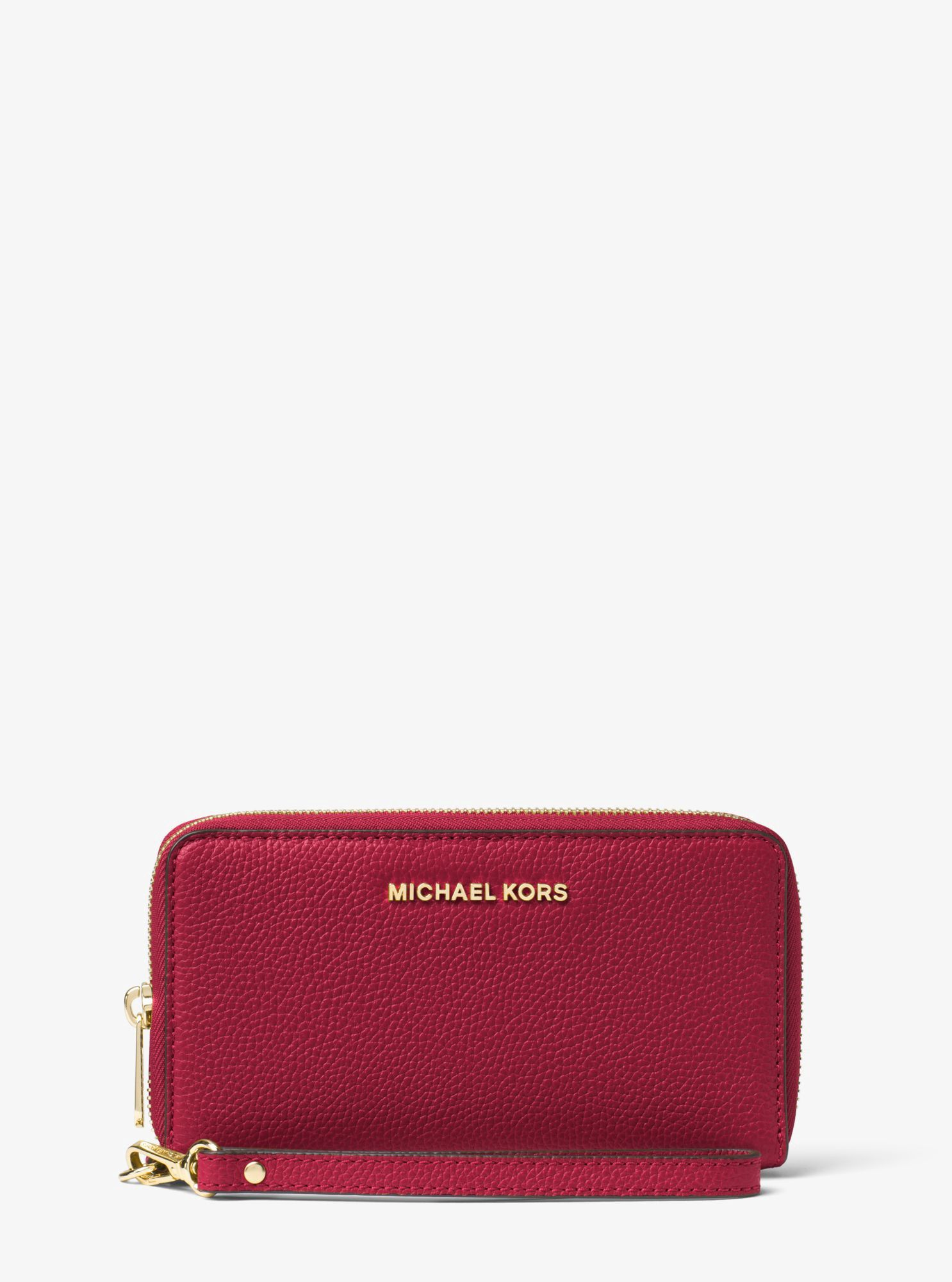 4ca642713e038 MICHAEL KORS Mercer Large Leather Smartphone Wristlet.  michaelkors  all