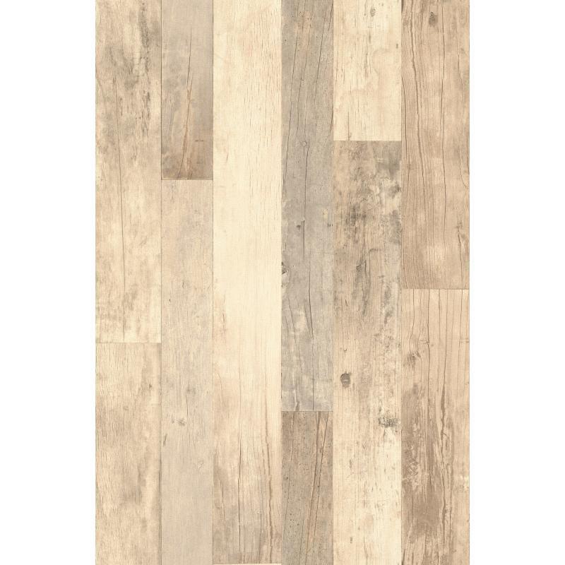 Papier peint planches de bois naturel , collection Factory III -Rasch
