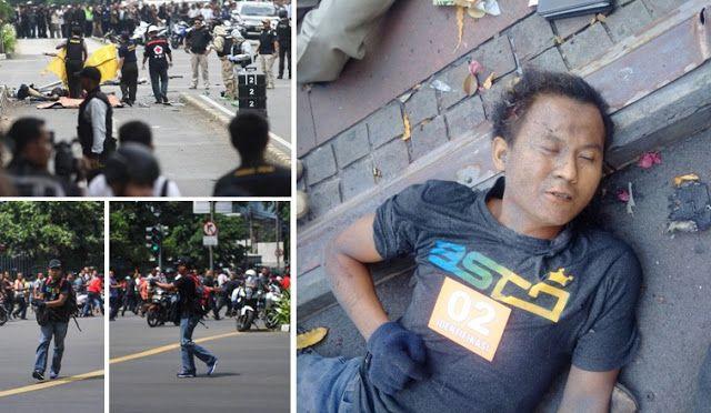 Ini Penampakan Pelaku Bom Sarinah Pakai Celana Jeans Kaos Branded